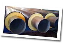 трубы в ППУ изоляции на стеллаже